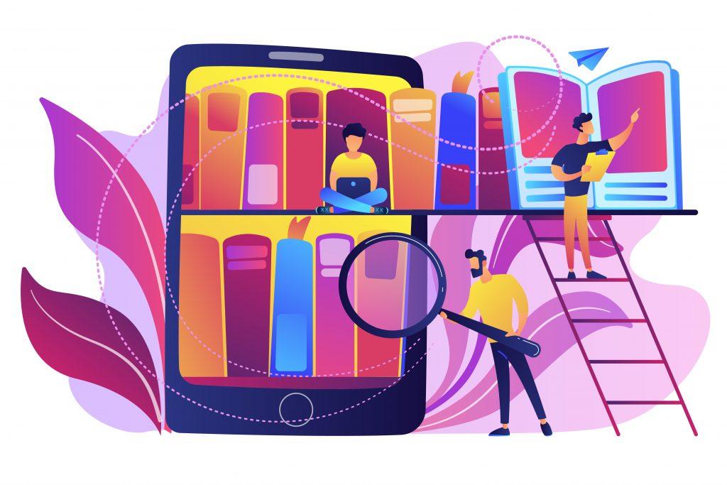 Gráficos, livros e celulares demonstrando que é possível aprender de diversas maneiras.